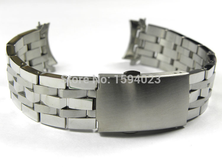 19mm <font><b>PRC200</b></font> T17 T461 T014430 T014410 Watchband Watch Parts male strip Solid Stainless steel bracelet strap image