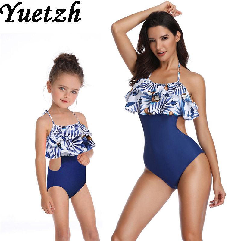 ByBella Summer Beachwear Bikini One Piece Parent-Child