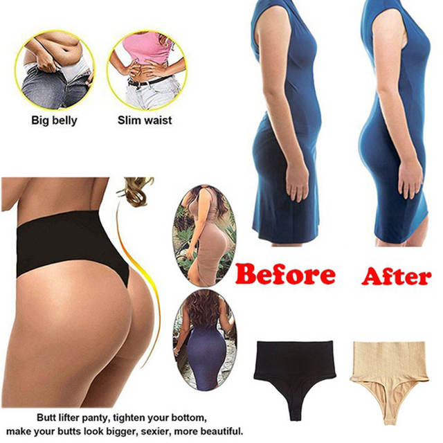 f0506cf679 placeholder Newest Hot Women s Waist Trainer Cinchers T-Back Panties Hip  Enhancer Body Shaper Seamless High