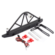 цены RC 1/10 Rear Bumper with Spare Tire Rack Carrier Taillights Upgrade Parts for 1/10 RC Crawler Car Axial SCX10 & SCX10 II 90046