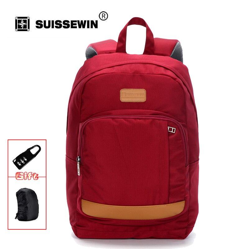 Suissewin Brand Fashion School Bags For Teenage Sling Backpack Women Lightweight Daypack Red Black Orange Bag to School sn2012K