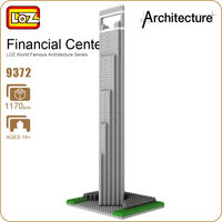 LOZ Ideas Diamond Block Shanghai International Financial Center SWFC China Building Build Architecture Model Assembly Toy