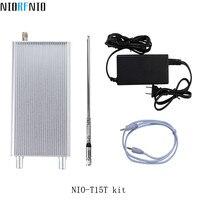 Профессиональный алюминиевый корпус NIO T15T 15 Вт Беспроводной комплект аудио передатчика с автомобильная антенна с 5 м кабель