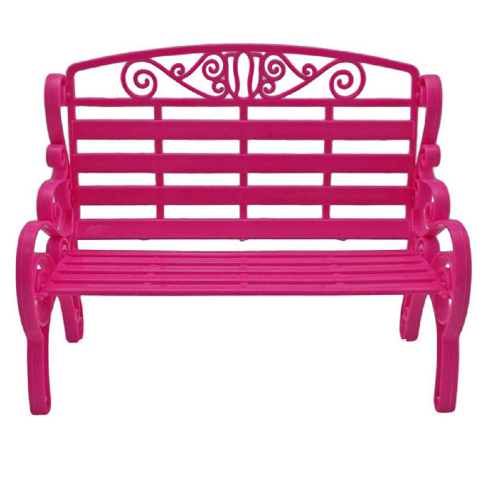Pink Garden 2-Seater Chair Bench 1:6 for Blythe Monster High Doll's House Dollhouse Furniture