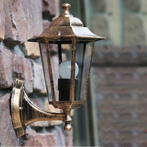 estilo vintage apliques de pared lmpara al aire libre villa luces de lmparas de jardn balcn