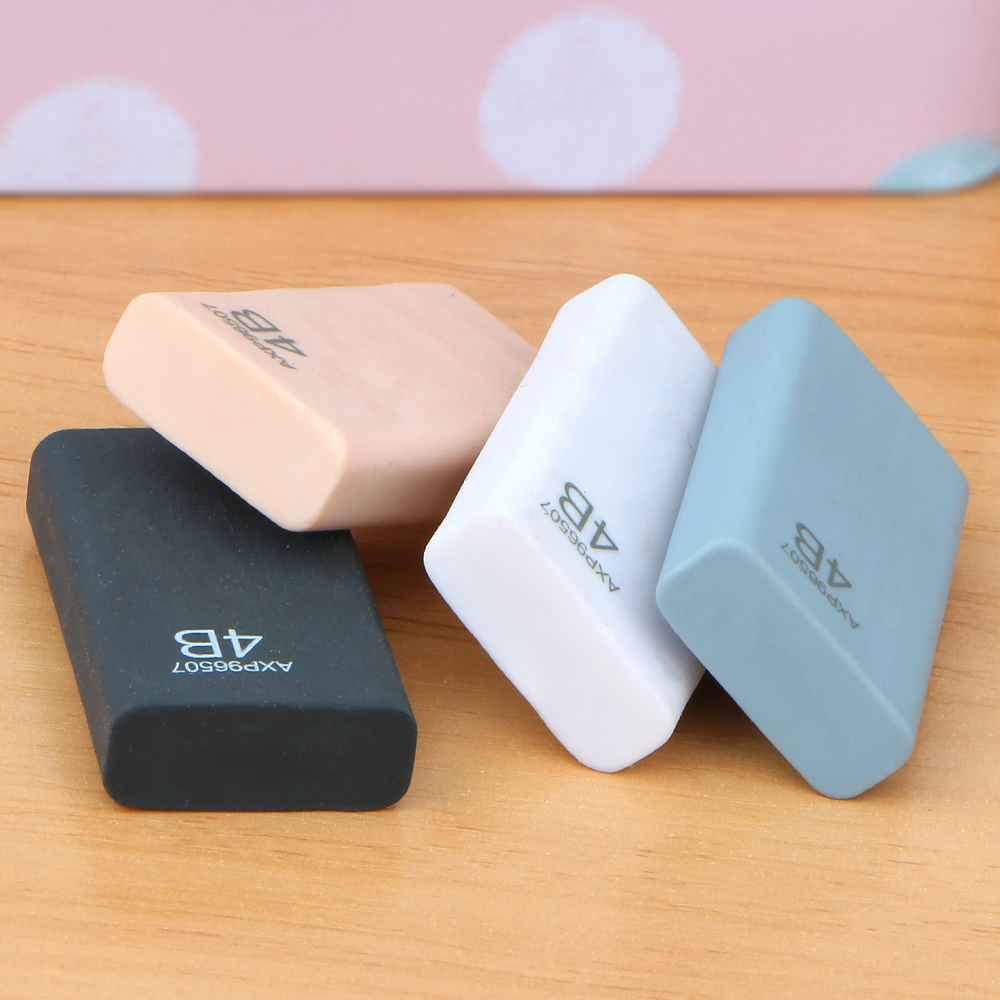4Pcs/lot Rubber Eraser 4B Pencil Eraser Art Drawing Student Learning Stationery Gift School Office Supplies