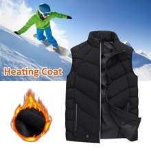 2018 New Electric Heated Fishing Vest Outdoor Riding Skiing Waterproof USB Charging Clothing Keep Warm Winter Heating Jacket