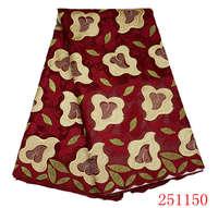 Vente chaude africain lacet suisse de voile de haute qualité tissu en dentelle de coton pour le mariage 5 yards/pièce livraison gratuite