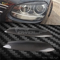 Украшения из углеродного Волокна Фар Веки Бровей обложка отделка 2 шт., Пригодный Для Volkswagen GOLF 5 GTI Jetta MK5 MK6 аксессуары