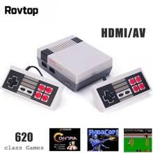 Rovtop Mini TV oyun konsolu 8 Bit Retro video oyunu Konsolu Dahili 620 El Oyun Çalar AV Bağlantı Noktası