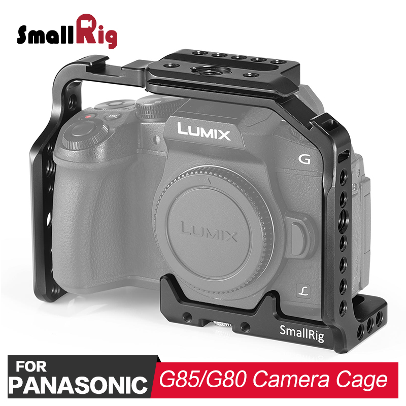 SmallRig DSLR Camera Cage for Panasonic Lumix DMC-G85/G80 Feature with Nato Rail 1/4 &3/8 thread holes for DIY Options 1950SmallRig DSLR Camera Cage for Panasonic Lumix DMC-G85/G80 Feature with Nato Rail 1/4 &3/8 thread holes for DIY Options 1950