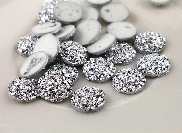 New Fashion 40pcs 12mm Silver Color Flat Back Resin Cabochons Cameo G5-08 майка борцовка print bar путин санта