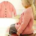 Coreia do Algodão Cardigan Bebê Camisola Meninas Camisola das Crianças Cardigan