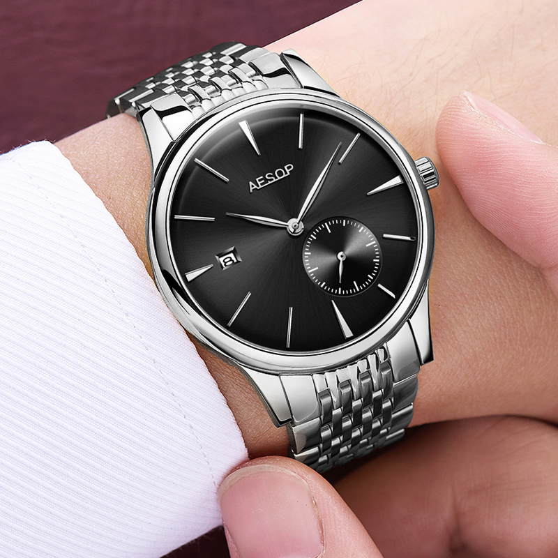 2018 Stainless Steel Mechanical Watch Men Brand Luxury Men's Automatic Watches Sapphire Wrist Watch Male Waterproof Reloj Hombre switzerland automatic mechanical watch men stainless steel reloj hombre wrist watches male waterproof skeleton sapphire b 1160 3