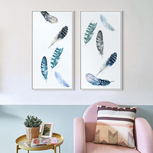 Elegant Poetry Modern Nordic Air is Dancing Messy Feathers Canvas Art Wall Print Picture Poster Painting Bedroom Decoration