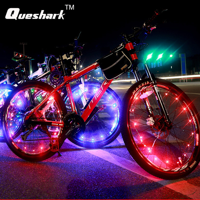 1 stks Waterdichte Kleurrijke Fiets Verlichting Fiets Wheel Spoke 20 ...