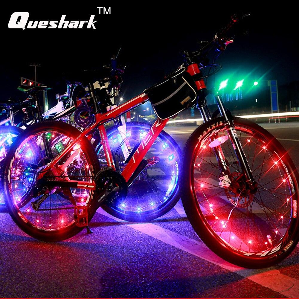 Us 434 7 Off1 Sztuk Wodoodporna Kolorowe światła Rowerowe Rower Koła Szprychy 20 Diod Led Noc Jazda Na Rowerze Lampa Rowerowa W Oświetlenie
