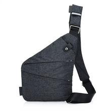 Lhlysgs Brand Men Travel Business Burglarproof Shoulder Bag Anti Theft Security Holster Strap Digital Storage Chest Bags