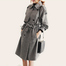 Winter Trench Coat Long Women 2016 Fashion Warm Windbreaker Women Manteau Trench Femme Women's Winter Coats Size 4xl