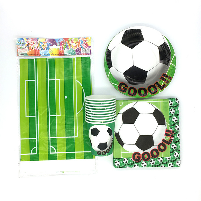 61Pcs Football Soccer Theme Party Tableware set Disposable Papers Cups Tablecloths Plates Napkins Decoration supplies worldcup  sc 1 st  AliExpress.com & 61Pcs Football Soccer Theme Party Tableware set Disposable Papers ...