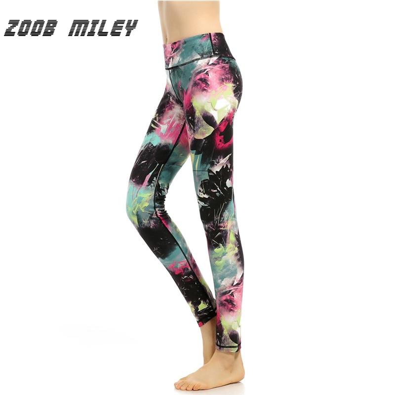 ZOOB MILEY Women Yoga Leggings Vintage Print Gym Professional Running Workout Fitness Yo ...