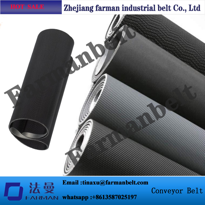 2.3mm Black Diamond pvc conveyor belt for treadmill walking belt