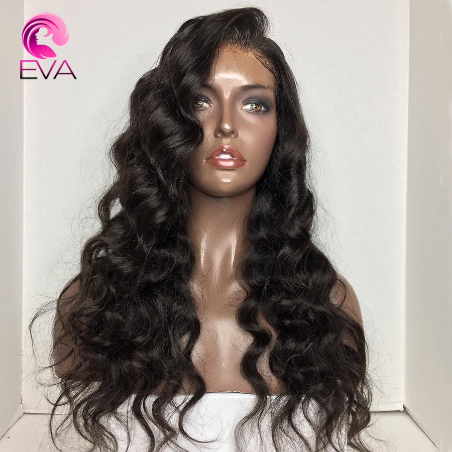 Eva Hair 180 Density Body Wave 360 Lace Frontal Wig Pre Plucked With Baby Hair 10