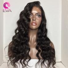 """Эва волос 180% плотность тела волна 360 синтетический фронтальный парик предварительно сорвал с волосами младенца 1""""-24"""" натуральные цвета бразильские парики Remy"""