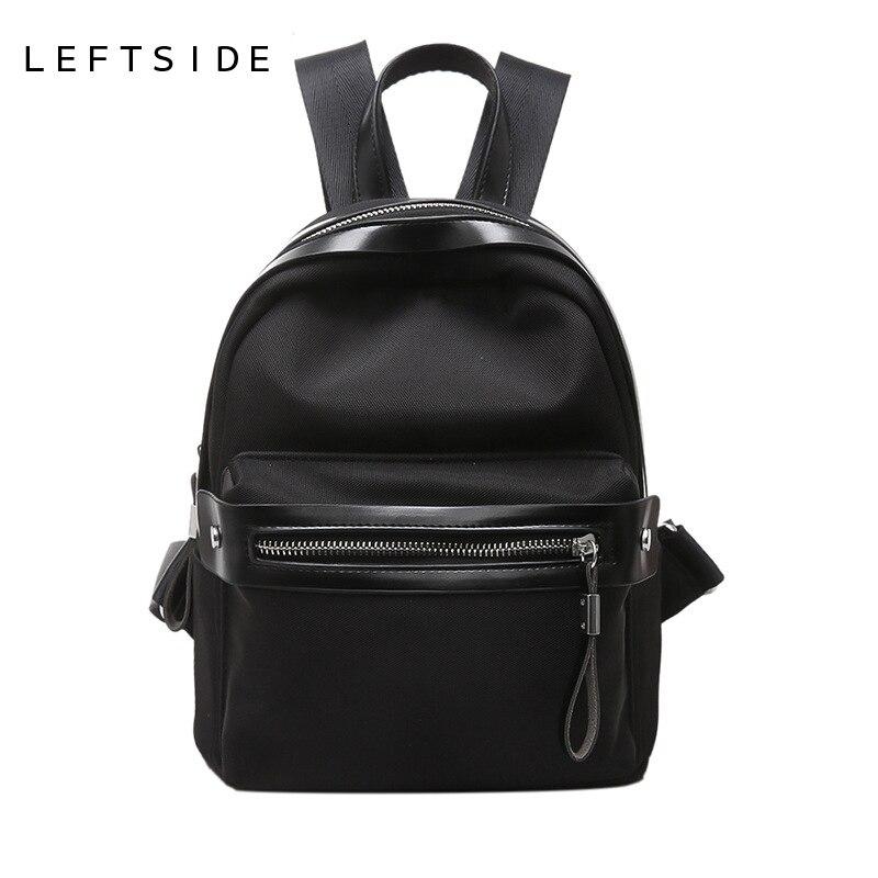 LEFTSIDE 2017 New Women s Nylon Small Backpack Women Bag Travel Backpacks For School Teens Girls