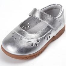 Обувь для девочек; кожаные; Серебряные; mary jane; мягкие туфли для малышей с цветочным узором и вырезами; сезон весна-лето-осень; для свадьбы; с цветочным узором; для маленьких детей