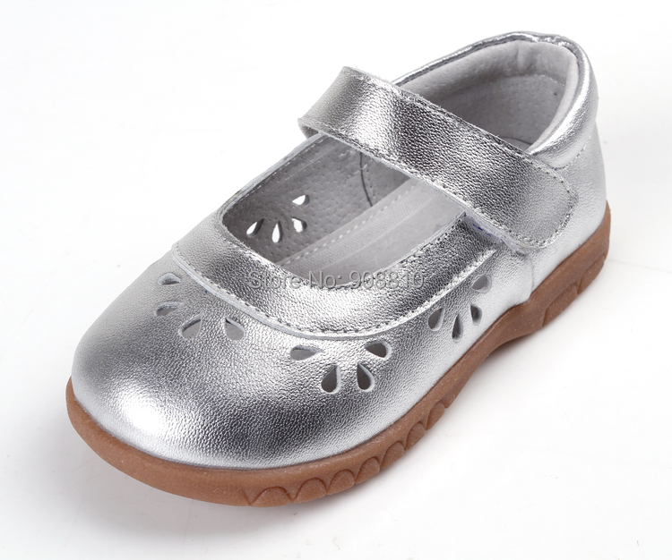 girls shoes leather silver mary jane