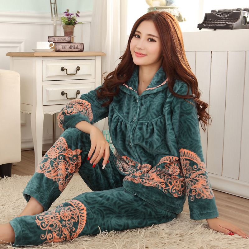 2016 Bathrobe Robe Beauty Divine Service Home Furnishing Ms. Winter Three Layer Of Thick Flannel Super Soft Warm S 9101