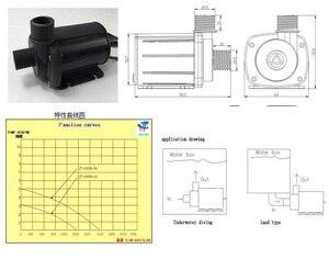 Image 4 - JT 1000B تيار مستمر فرش مضخة مياه 12 فولت 24 فولت كحد أقصى. 5 متر أقصى معدل تدفق 2000L/H حياة طويلة بمثابة مضخة غاطسة أو مضخة معززة