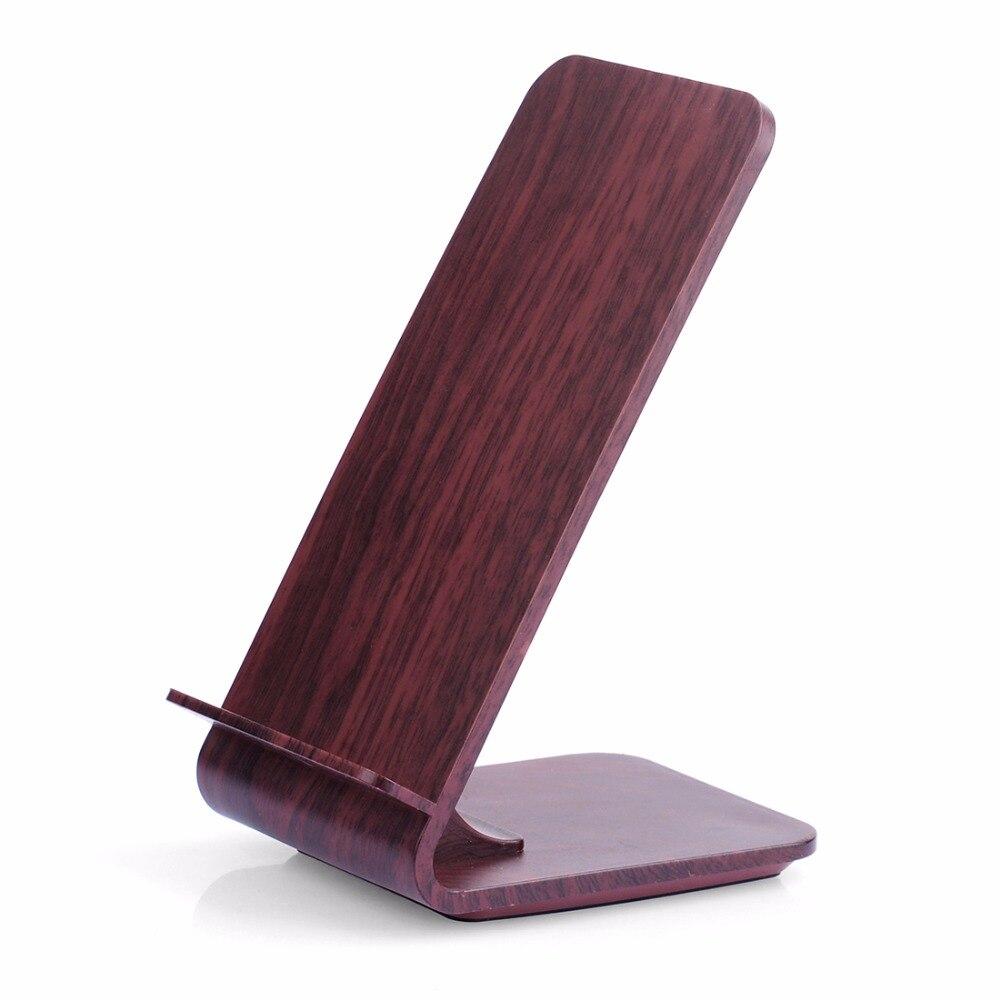Taxta Taxıl Stand Itian A8 iPhone 8 üçün sürətli simsiz şarj - Cib telefonu aksesuarları və hissələri - Fotoqrafiya 2