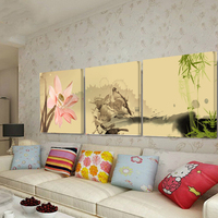 3 Pcs Vintage Flowers Canvas Painting Modern Home Decoration Living Room Bedroom Canvas Print Painting Wall Decor Picture