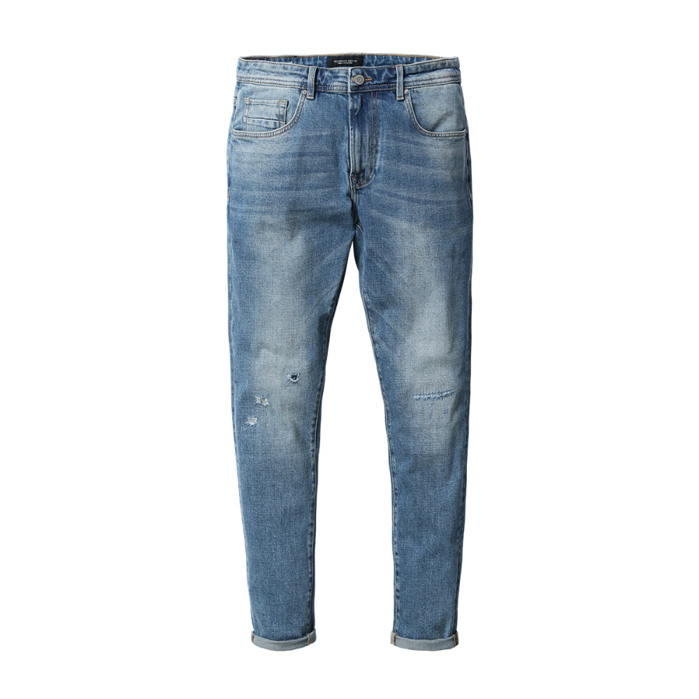 Ripped Slim Fit Denim Jeans For Men 5