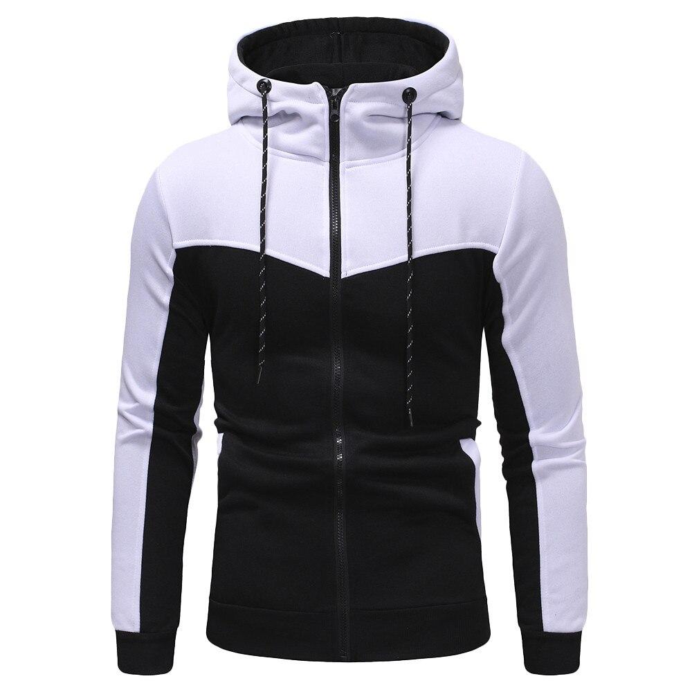 Sweatshirt Mens Autumn Winter Casual Packwork Slim Fit Sweatshirt Hoodies Top