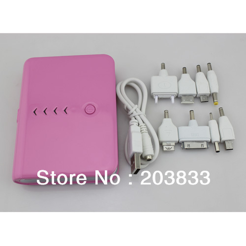 2 usb port 20000mAh Emergency Portable Battery Power Bank Charger For i9220 Motolora