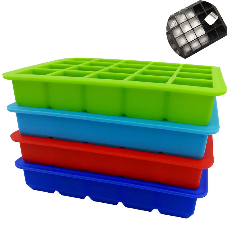1PCS 20 Cavity Square Ice Cube Mould Silicone Ice Maker Square Shaped Ice Cube Tray Silikone Form Cube Forme Køkkenværktøj