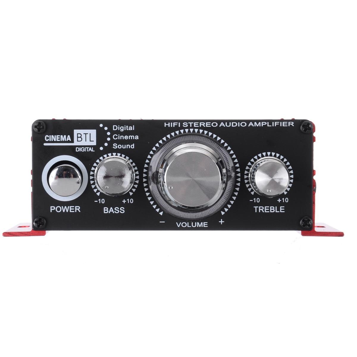 20Hz To 20KHz New Red Stereo HiFi Amplifier Aluminium MA-170 2CH AMP For Computer Desktop Speaker
