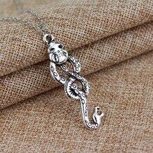 Dongsheng Nagini ожерелья «Слизерин» Horcrux Voldemort изгнанная змея ожерелья винтажные Серебристые темные знаки для женщин и мужчин подарок