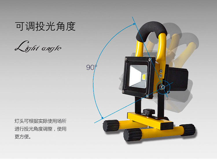 5W 10W 20W 30W portable rechargeable floodlight led work light emergency spotlight charge flood lamp for Car Traveling Camping