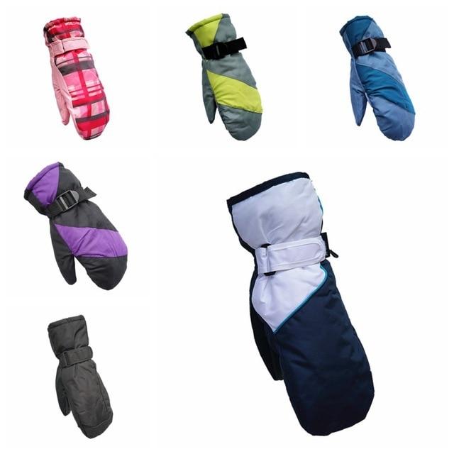 Зимние мужские женские лыжные перчатки ветрозащитные непромокаемые Нескользящие полный палец Катание на коньках лыжные перчатки хлопковые теплые варежки