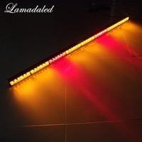 Lamadaled DC12V red blue 50inch 120cm police vehicle led strobe light bar emergency truck car bumper flash warning lamp