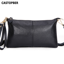 Designer Fashion Genuine Leather Envelope Day Clutches Designer Handbags High Quality Crossbody Womens Female Clutch Evening
