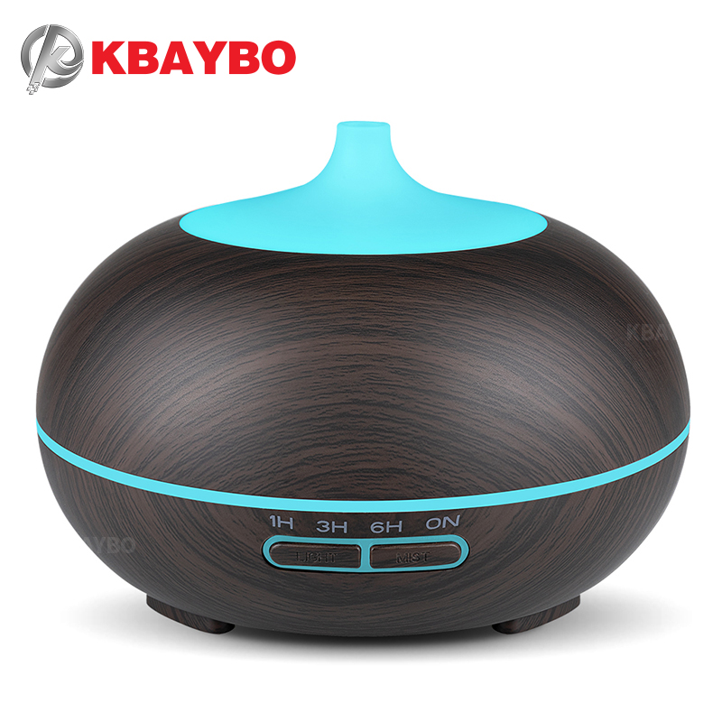 300ml Aroma Diffuser Aromatherapy Wood Grain Essential Oil Diffuser Ultrasonic Cool Mist Humidifier for Office Home цена и фото