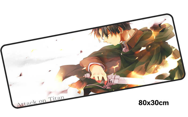 gel Attack on Titan mouse pad gamer accessories 800x300mm notbook mouse mat large gaming mousepad xl pad mouse PC desk padmouse