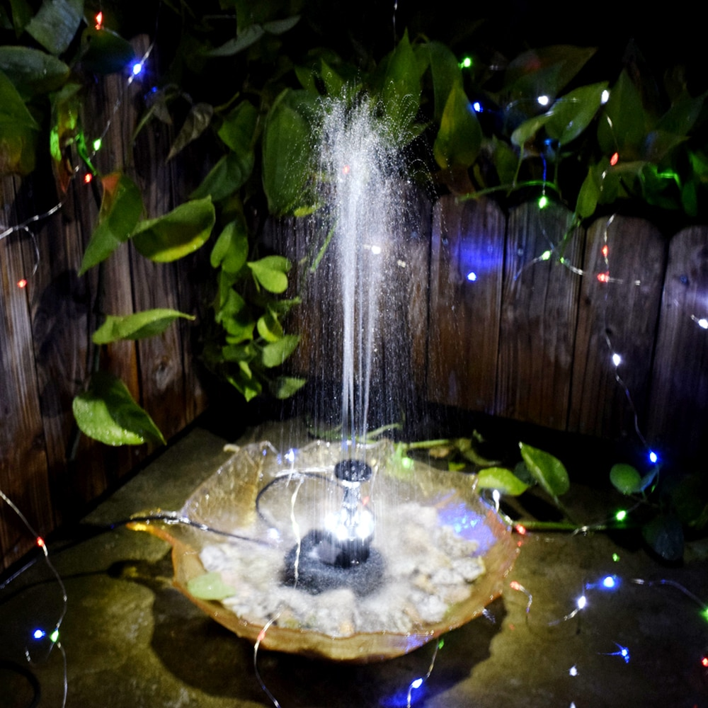 12V 5W Solar Power Brushless Water Pump Built in Storage Battery Remote Control Submersible LED Pump