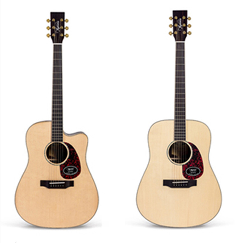 Solid Spruce Top Real Abalone Acoustic Guitar 41 Acoustic Guitarra with Fasion Case High Quality Free Shipping high quality solid wood guitar 41 inch spruce wood panel acoustic guitar guitarra free shipping