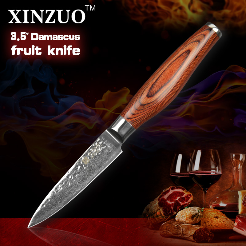 2016 NEWEST 3 5 fruit font b knife b font Damascus kitchen font b knives b